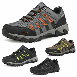 Mens Outdoor Trekking Camping Shoes Hiking Boots Waterproof  Ankle Low Top Boots