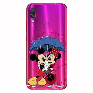Funda gel transparente dibujo Mickey Minnie lluvia Xiaomi Redmi note 7 Mi 9