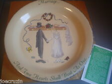 NIB Home & Garden Party Stoneware Marriage Wedding 2001 Plate gift handcrafted