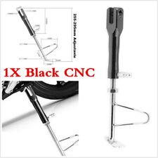 1pc Black CNC Motorcycle Kickstand Side Stand Adjustable Leg Prop Post Universal