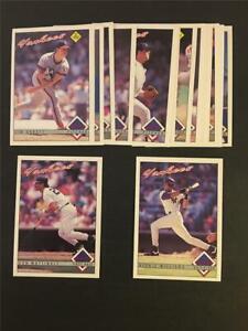 1993 OPC O-Pee-Chee New York Yankees Team Set 17 Cards