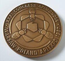 XXXI INTERNATIONAL  CONGRESS APIMONDIA WARSAW POLAND 1987 - OLD MEDAL + BOX