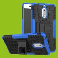 Para Nokia 3.1 5.2 Pulgadas Carcasa Híbrida 2 Piezas Exterior Bolsa Azul