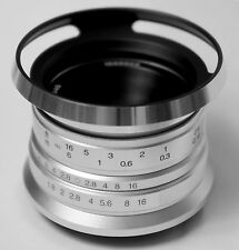 Hengyijia 25mm F1.8 (Silver) Manual Focus HD.MC LENS f/ Fujifilm FX Mount Camera