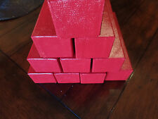 10 Red Cardboard Storage Box Boxes 2x2x9 for 2x2 Coin Holders Flips