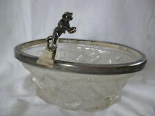 Jugendstil WMF Glasschale Metallmontur Schlittschuhläufer Eisschale Figur