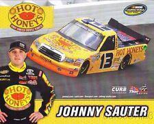 "2012 Johnny Sauter Hot Honeys ""3rd issued"" Toyota Tundra NASCAR CWTS postcard"