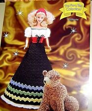 GOLDILOCKS Annie's Attic Fairy Tale Collection CROCHET PATTERN FITS BARBIE DOLL
