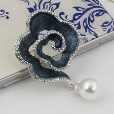 Women Brooch 14k Gold Filled Crystal Pearl Flower Brooch & Pin Fashion Jewelry