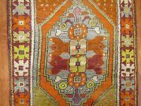 Vintage Gorgeous Turkish Anatolian Ushak Oushak Rug Size 2'8''x4'2''