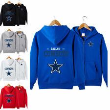 Dallas Cowboys Sports Hoodies Zip-up Sweatshirt Hooded Coat Jacket Fan's Gift