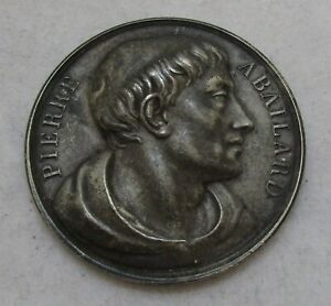 Antique French Silver Pierre Abailard medal, 1817