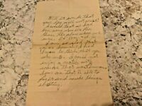 Ephemera Letter - Undated - Raw Love - Great Handwritten Content - Must Read!