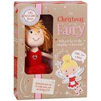 The Christmas Fairy Soft Plush Naughty or Nice & Cards Set Xmas Festive Toy