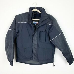 Blauer Men's Small Crosstech Emergency Response Blue Full Zip Short Coat 9845