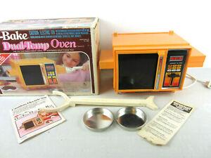 Vintage 1983 Easy Bake Dual Temp Oven Original Box Accessories Pans Instructions