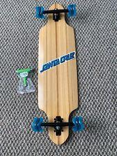 "Bamboo Drop Through Longboard 36"" X 9.75"" Shark Wheels Og Santa Cruz Decal Tool"