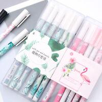 6pcs Cartoon Plant Flamingo Gel Pens Kawaii Stationery Kids Gifts Signature Pen