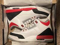 Nike Air Jordan 3 III Fire Red Retro Sneaker GS 2013 Sz 5Y 398614-120