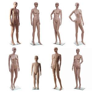 SONGMICS Mannequin de vitrine Femme Homme enfant Feminin plastique