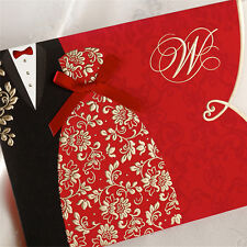 100PCS Personalised Wedding Invitations Cards & Evening Invites with Envelopes
