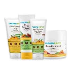 Mamaearth Wedding Glow [Gel + Face Wash + Face Cream + Face Mask] Skincare Kit