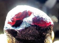 Dark Purple Stone ---  Natural violet garnet Original Crystal Mineral Specimen