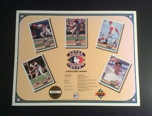 Upper Deck Baseball 1992 Collectors Shows Promo Photo Poster 8.5x11 Lmtd Ed