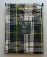 Ralph Lauren Christmas Holidays Plaid GREEN GREY Middlebrook Round 70 Tablecloth