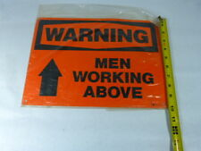 Generic 14 X10 Warning Men Working Above 14 By 10 New In Bag