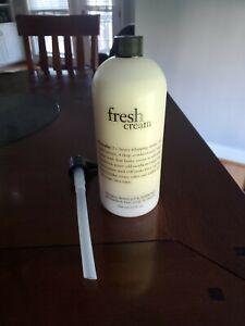 Philosophy Fresh Cream Shampoo/Shower Gel w/pump 32 oz New / Sealed