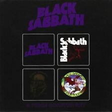 More details for black sabbath drinking coasters 4 set - boxed music lovers gift