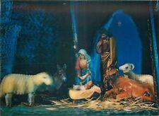 Lenticular stereo 3D postcard Nativity Scene