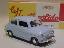 3 Inch Fiat 600D 1963 Solido 1/43 Diecast Mint in Numbered Box