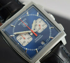 TAG HEUER STEVE MCQUEEN  MONACO CW2113-0  BOX/PAPERS/1 YEAR  GTEE  2010 YEAR