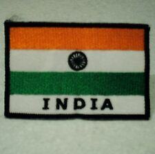 India , Indian Flag . Sew on Patch  (6.8cm x 4.6cm)