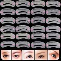24 Eyebrow Shaping Stencils Grooming Kit Shaper Template DIY Reusable Fashion