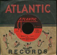RAY CHARLES What'd I Say on Atlantic R&B 45 Hear