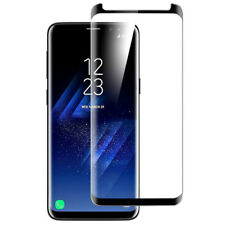 For Samsung Galaxy S9 5D Full Curved Tempered Glass LCD Screen Protector Black.