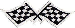 Patch Badge Patch Racing Flag SPORTS Automobiles Small Fusible Embroidered