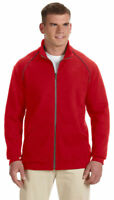Gildan Men's Contrast Twill Neck Tape Long Sleeve Full Zip Jacket. G929