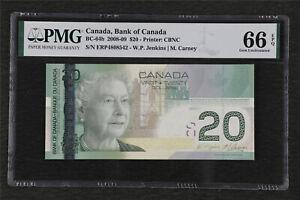 2008-09 Canada Bank of Canada BC-64b 20 Dollars PMG 66 EPQ Gem UNC