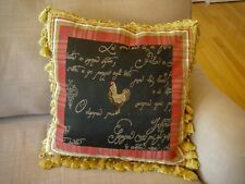 "Decorator French Rooster Chicken 17"" Down Throw Pillow"