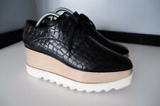 Stella McCartney Elyse Plataforma Zapatos Talla 40.5 Reino Unido 7.5 Negro Cuero