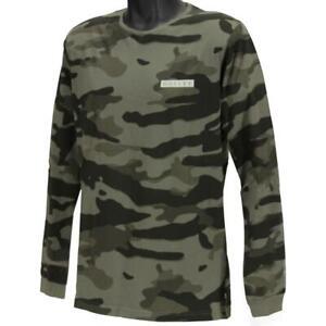 Oakley Harry Long Sleeve Tee Mens Size XL Worn Olive Green Camo Logo T-Shirt