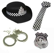 POLICE FANCY DRESS TIE HAT BADGE COP MENS LADIES UNISEX HEN PARTY HANDCUFFS