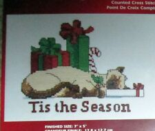 "1 Darling Christmas ""Tis the Season"" Counted Cross Stitch Kit"