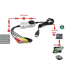 USB to RCA Composite S-Video TV VHS DVD 8MM Camcorder Video Capture PC Win7/8/10
