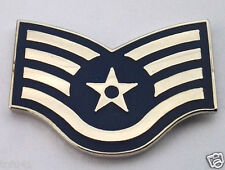 US AIR FORCE RANK E5 STAFF SGT  Military Veteran Rank Pin 14338 HO