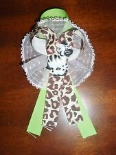 ZEBRA BABY SHOWER CORSAGE SAFARI JUNGLE THEME PARTY MOTHER TO BE FAVOR GIFT